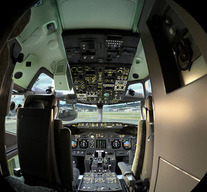 airplane cockpit modeled 3D model