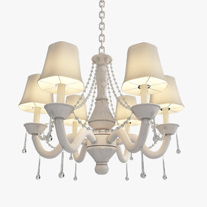3D light stem chandelier traditional