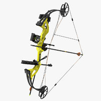3D model armed compound bow bear