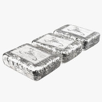 bricks cocaine wrapped foil 3D