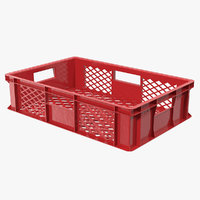 Plastic Crate Box 3D Model