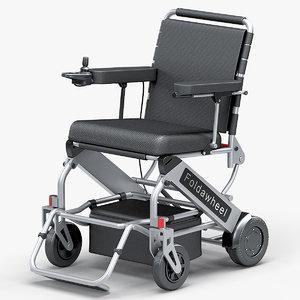 3D powered lightweight folding wheelchair model