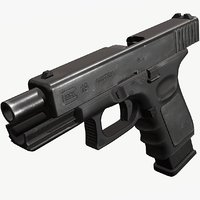 Glock 19 (Triple A) Low Poly HQ Textures