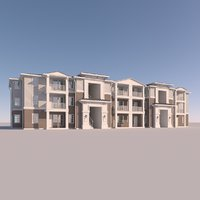3D town home townhome model