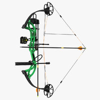 3D armed compound bow generic model