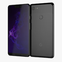 black google pixel 3xl 3D model