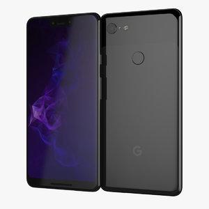 black google pixel 3xl 3D model
