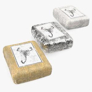 various cocaine packages set 3D model