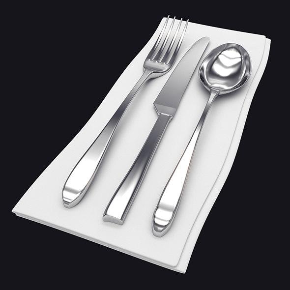 cutlery silverware fork 3D model