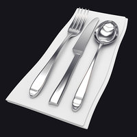 cutlery silverware fork 3D model