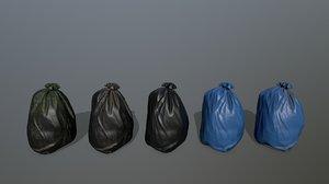 3D model litter bag