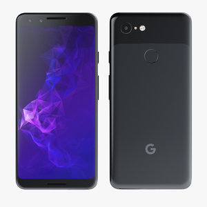 3D google pixel 3 black