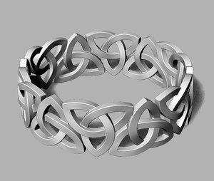 3D celtic knot ring model