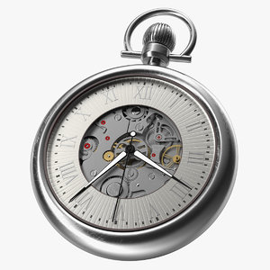 vintage pocket watch 3D