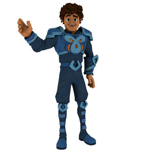 cartoon toon character 3D model