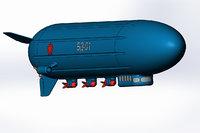 dirigible bomber 3D model