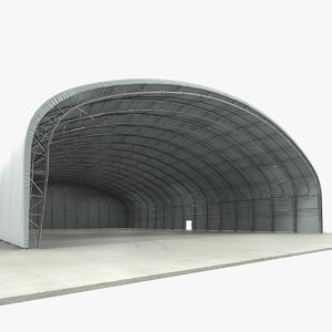 hangar air aircraft 3D model