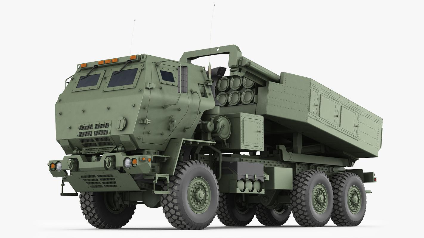 m142 himars army truck model
