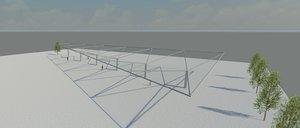 modern adaptive bus station 3D model