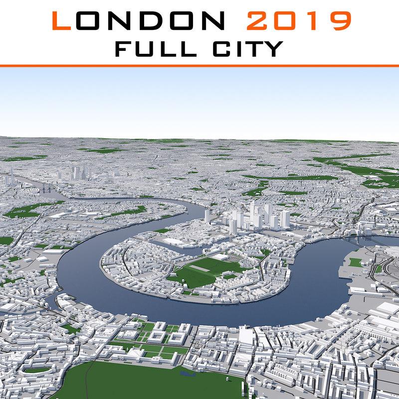 london cityscape 3d model