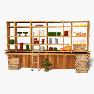 3D realistic kitchen model