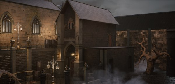 bloodborne church buildings model