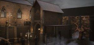 bloodborne church buildings model