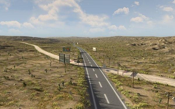 3D route 66 blender model