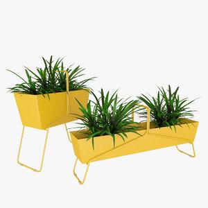 3D fermob basket plant model
