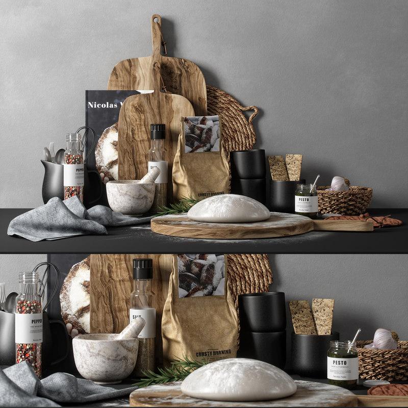 kitchen decor set 02 3D model