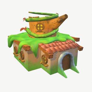 3D fantasy house model