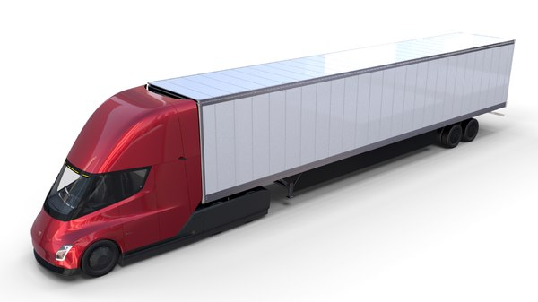 3D model tesla semi truck