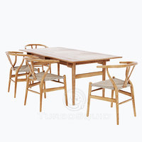 Carl Hansen CH24 Wishbone Chair + CH327 Dining Table (vray+corona)