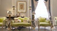 realistic chair sofa walls ceiling