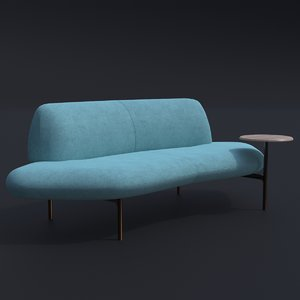 haworth feather sofa furnishing 3D model