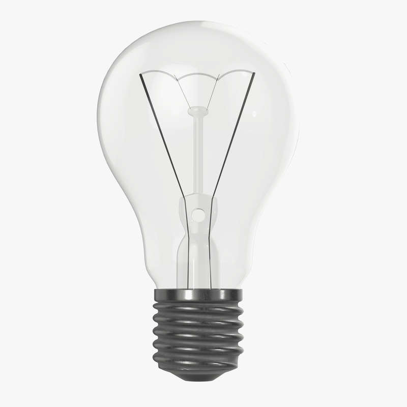 bulb light incandescent 3D model