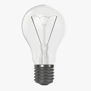 bulb light incandescent 3D model