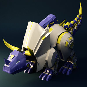 dinosaur machine 3D model