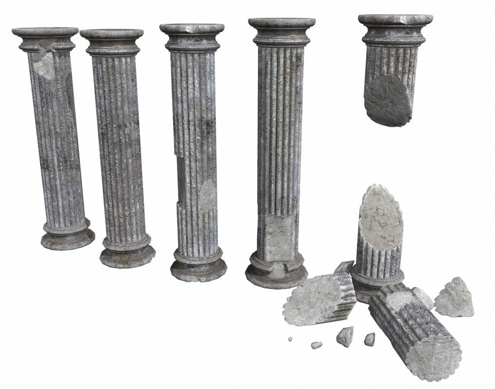 3D old columns