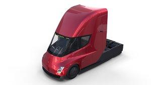 tesla semi truck interior 3D model
