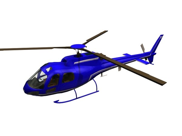 3D helicopter airbus light