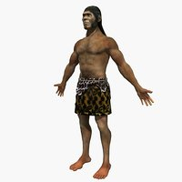 australopithecus man male 3D model