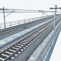 3D model highspeed railway