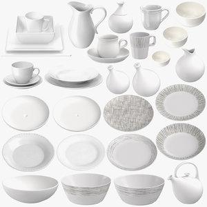 porcelain tableware bowl 3D