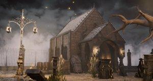 bloodborne chapel buildings 3D model