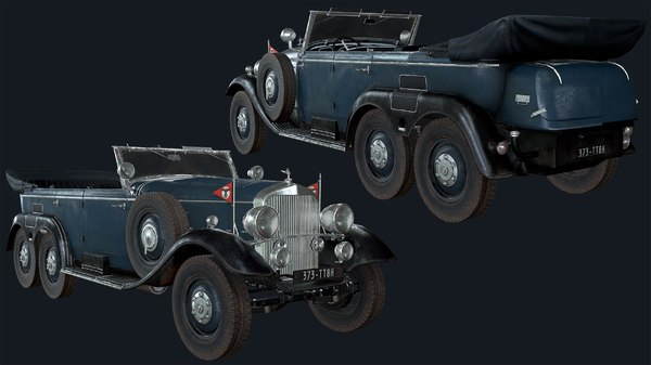 classic vehicle rigged 3D