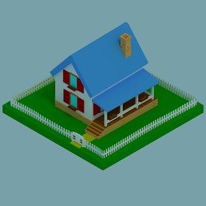 3D isometric house model