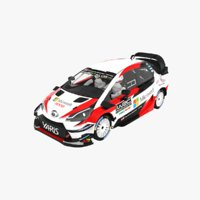 3D model toyota yaris wrc season
