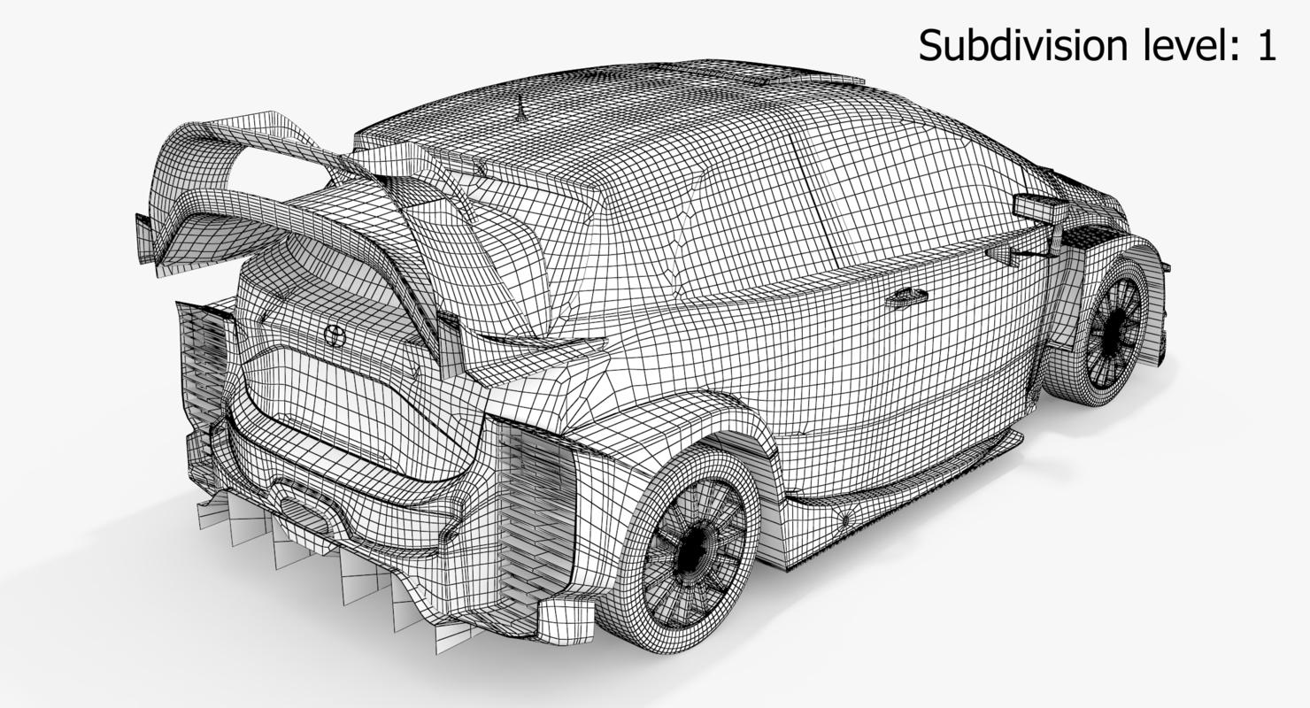 3D model toyota yaris wrc season