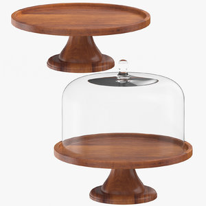 3D wooden cake pie stands